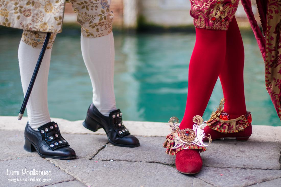 Venise - Italie - carnaval déguisement chaussures d'époque