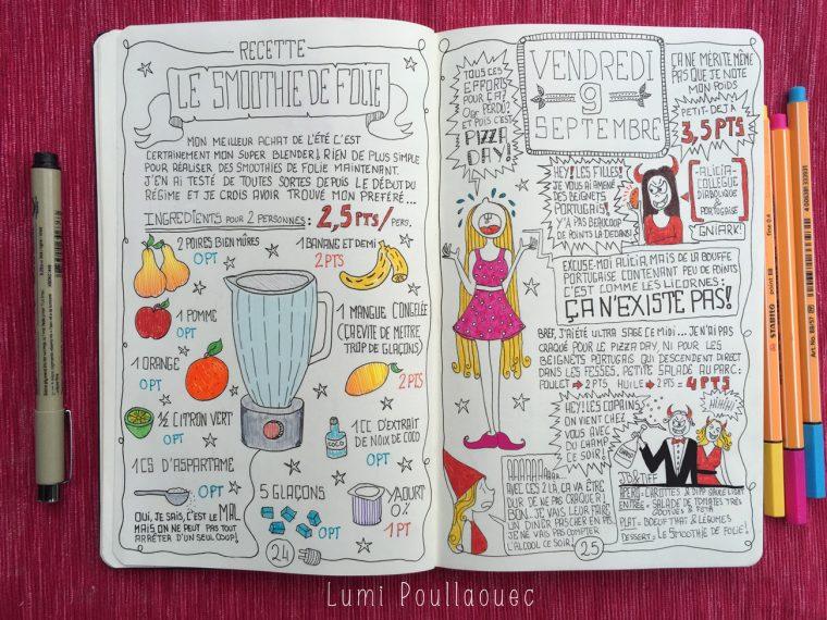 journal intime lutte contre la graisse régime journaling storytelling
