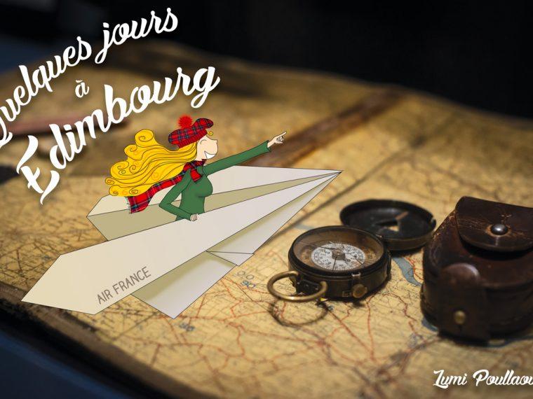 week-end Edimbourg avion illustration boussole écosse carte