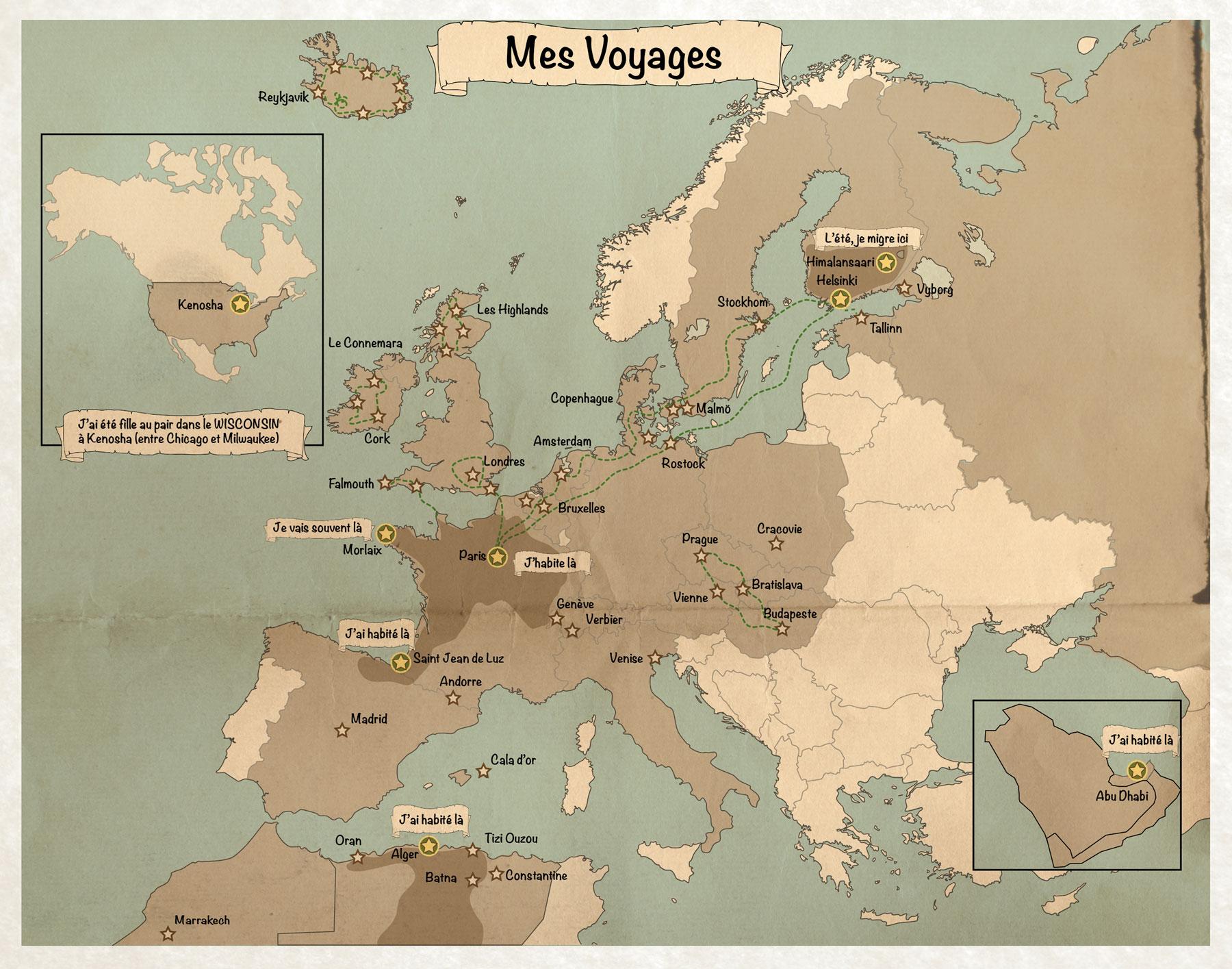 Carte-voyages